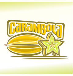 logo for carambola vector image