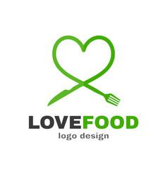 love food modern style logo design vector image