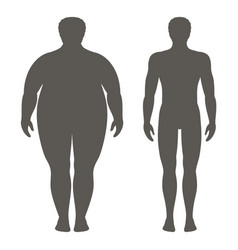 man before and after weight loss vector image vector image