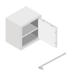 metal steel money bank safe icon isometric view vector image