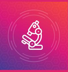 Microscope line icon research lab symbol vector