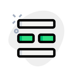 Mosaic modern bar shape horizontal design template vector