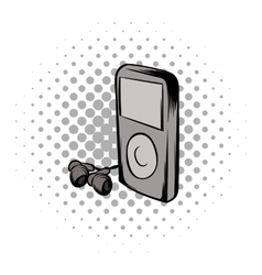 Mp3 player comics icon vector image