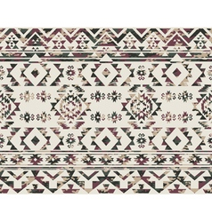 Native Americans pattern with camouflage texture vector