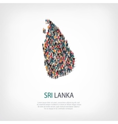 people map country Sri Lanka vector image