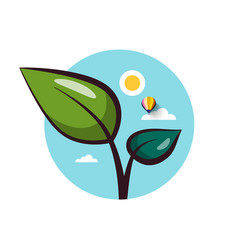 Plant flat design icon vector