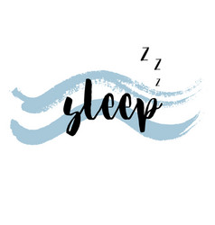 quote sleep vector image