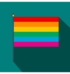 Rainbow flag icon flat style vector