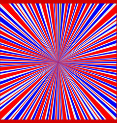 Red white and blue rays background vector