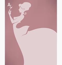 romantic bride vector image