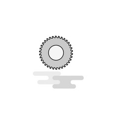 saw web icon flat line filled gray icon vector image