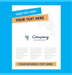 search in smart phone title page design for vector image