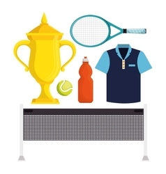 set equipment tennis game vector image