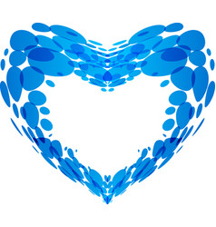 Splash of water in the form of heart vector