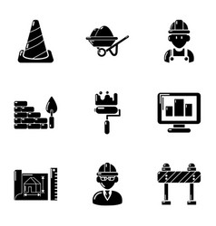 Substitute icons set simple style vector