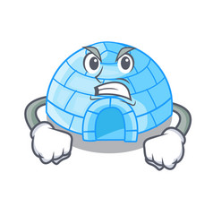 Surprised igloo ice house isolated on mascot vector