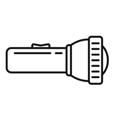 Survival flashlight icon outline style vector