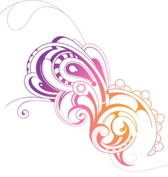 Swirly paisley vector image