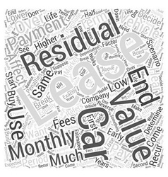 The residual value of leasing Word Cloud Concept vector