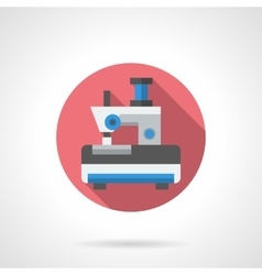 Toy sewing machine round flat icon vector image