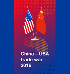 Trade war between china and usa vector