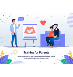 Training for future parents flat banner vector