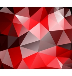 Triangle background Red polygons vector