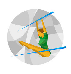 Uneven bars competition with abstract patterns vector