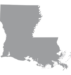 Louisiana Map Outline Vector Images 41