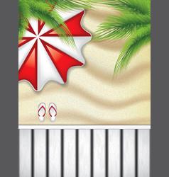 vacation at seaside vector image