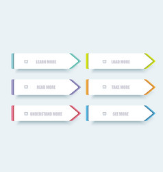 web panel design with color frames vector image