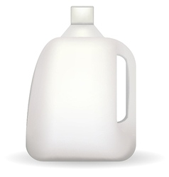 white plastic bottle vector image