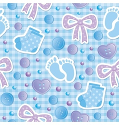 baby seamless pattern vector image vector image
