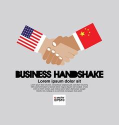 Business handshake eps10 vector