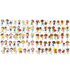 Children cultural vector image