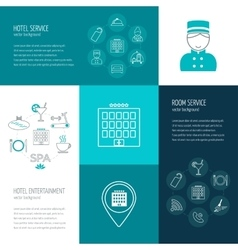 concept of hotel service entertainment vector image