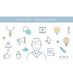 Content Management and Marketing vector image