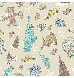 New York seamless pattern vector image