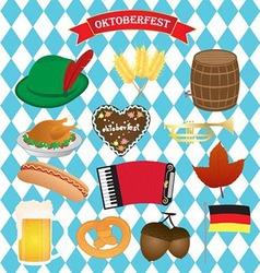 Oktoberfest Icons Set vector image vector image