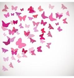pink butterflies Corner vector image