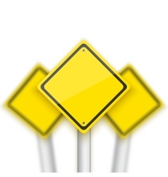 Road Red Stop Sign with Blurred Signs vector image vector image