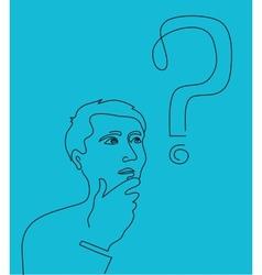 Thinking man vector image