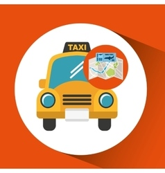 Airline ticket map travel taxi cab vector