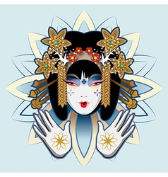 Chinese woman vector image