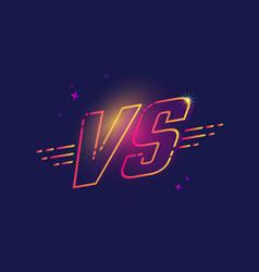 color neon vs letters vector image