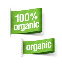 Organic product labels vector image