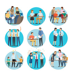 people at work start up set vector image vector image