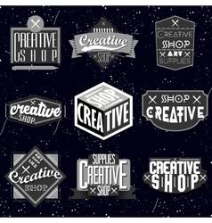 Retro Vintage Insignias or Logotypes set vector image