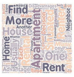 Should You Rent A House Or An Apartment text vector image vector image