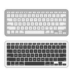Slim aluminum computer keyboard vector image vector image